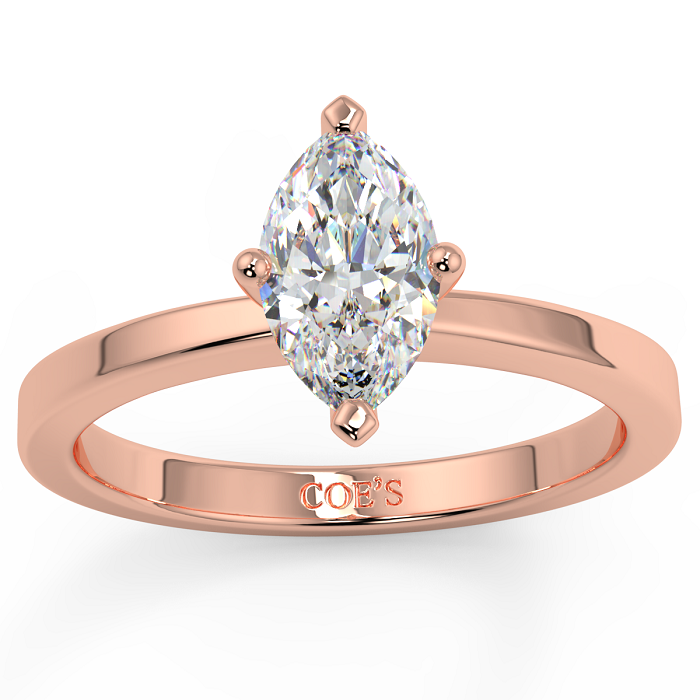 Gweneth Rose Gold Alternative Wedding Ring