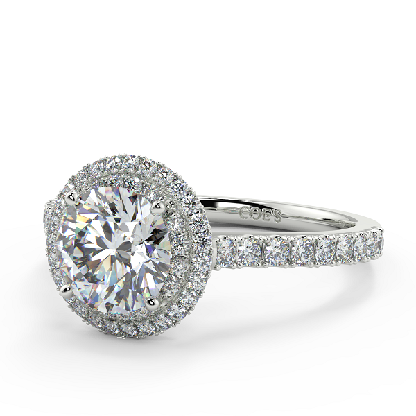 Magnolia Halo Engagement Ring for Women