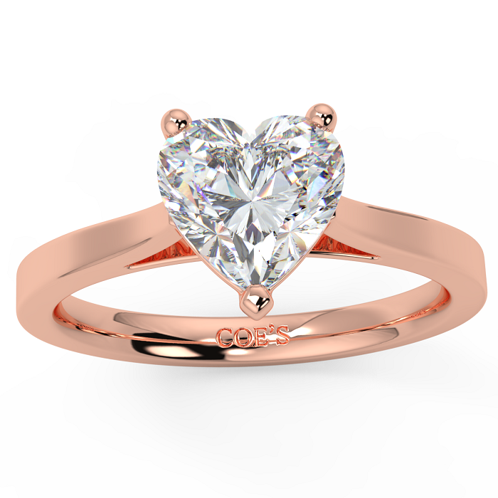 Diamond Ring Settings with Rose Gold