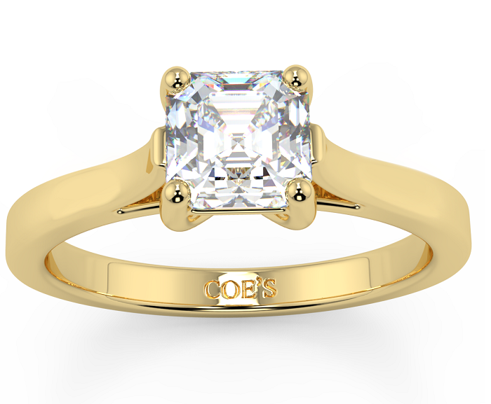 Most Popular Solitaire Wedding Ring with Yellow Gold